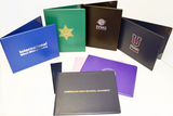 Non Padded Diploma Covers with Textured Inside and matching Leatherette Corners.