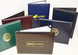 Vinyl Heat Sealed Diploma Holders with imprinted logos.