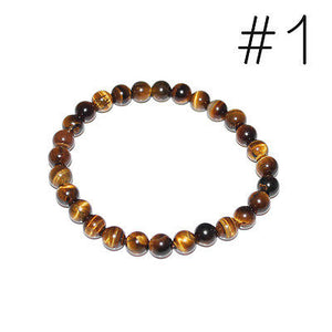 Natural Tiger Eye Stone Lucky bless Beads Men Woman Jewelry Bracelet Bangle New