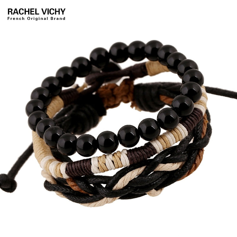 4 pcs Set Multilayer Wristband Bracelet
