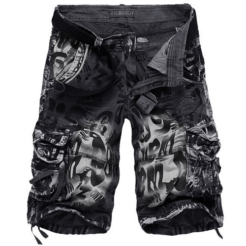 Printed Cargo Pants