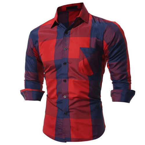 Men's Large Plaid Long Sleeve Shirt