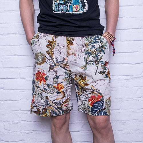 Breathable Comfort Casual Men's Linen Shorts Style 7