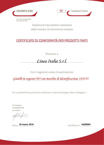 Certificato Made in Italy Linea Italia