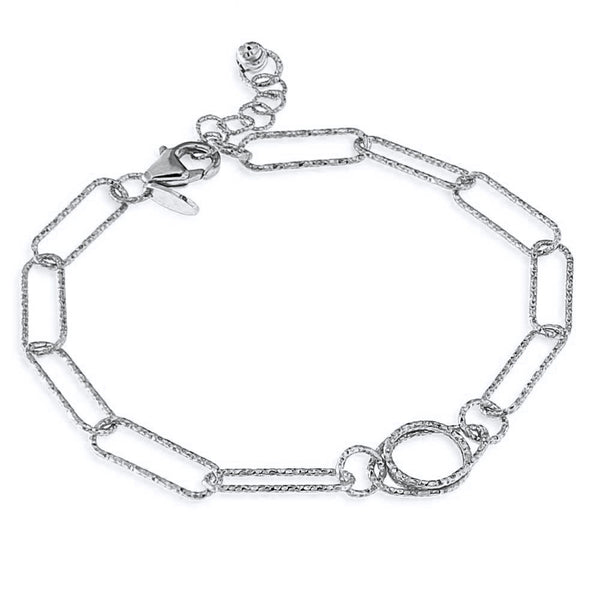 Bracciale paperclip in argento 925