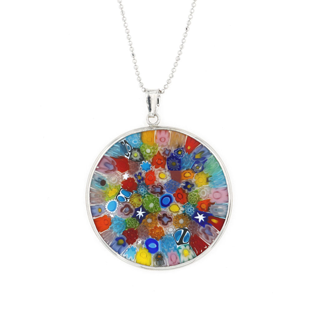 Collana con Murrina Millefiori Multicolore | linea Italia