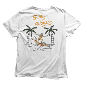 TAME THE WAVES T-SHIRT (Front & Back Print)