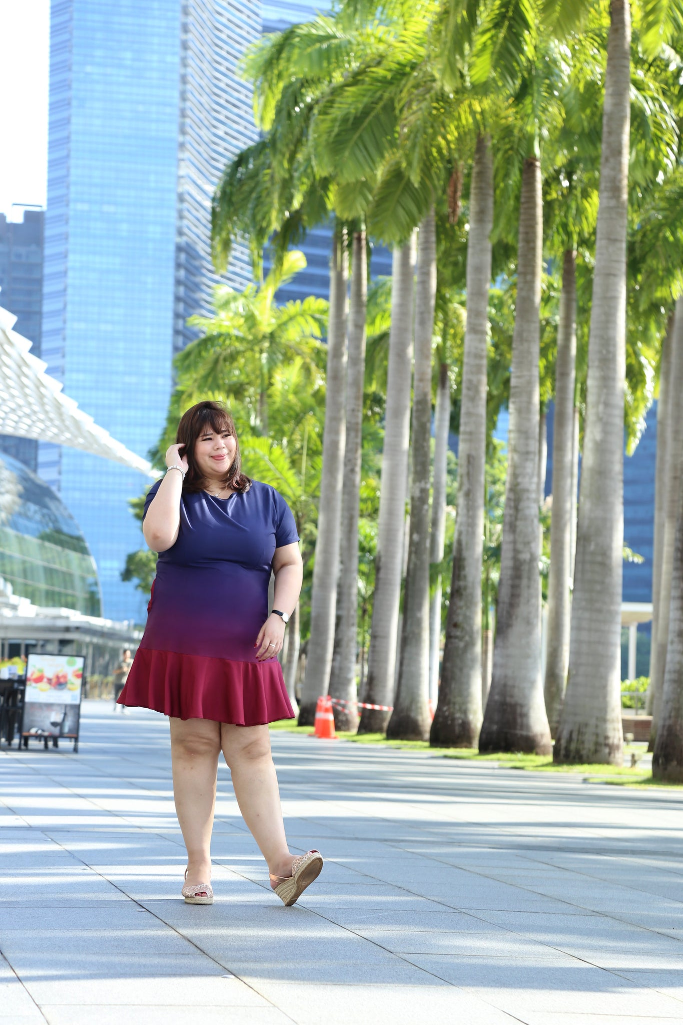 Love+ Ruby Aurora Ombre Dress (Plus Size Dress)
