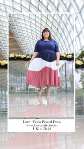 Love+ Velda Pleated Maxi Dress (Plus Size Maxi Dress)