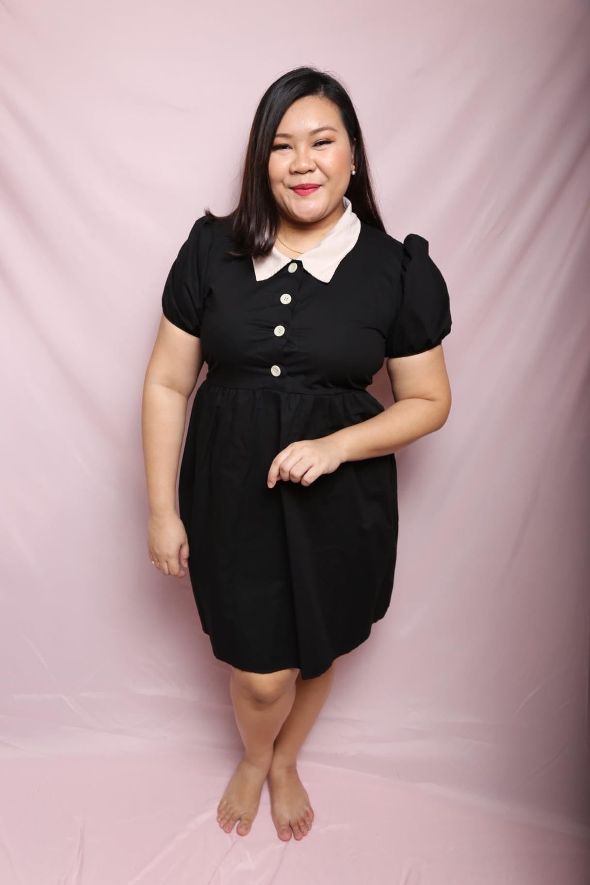 Linen Collary Dress (Plus Size Dress)