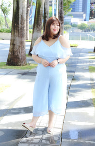 Love+ Blue Thea Swiss Jumpsuit (Plus Size Jumpsuit)