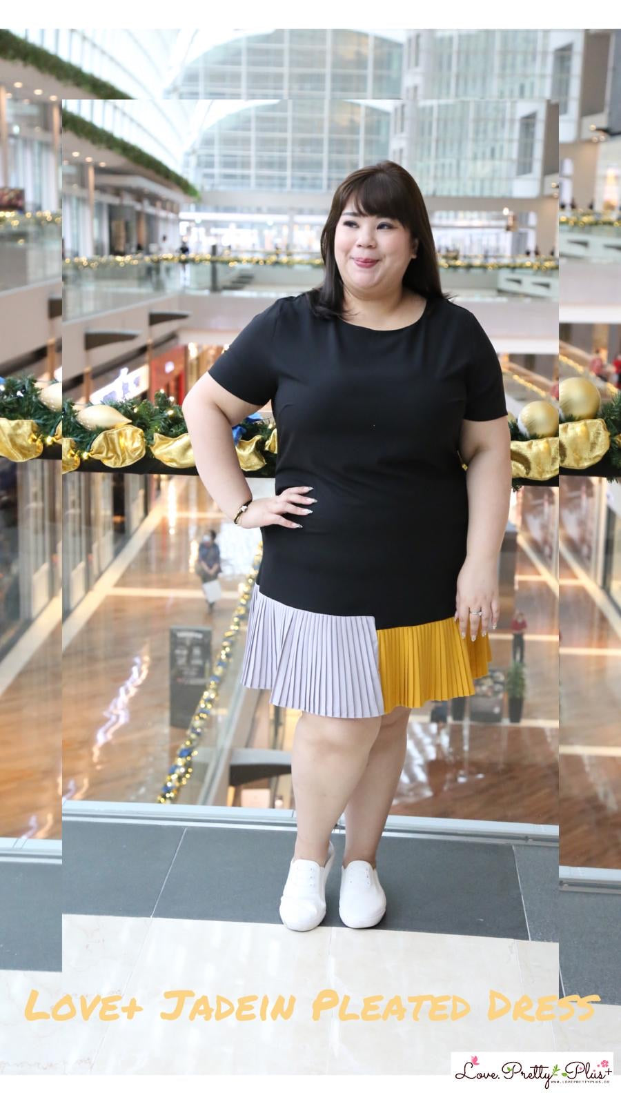 Love+ Jadein Pleated Dress (Plus Size Dress)