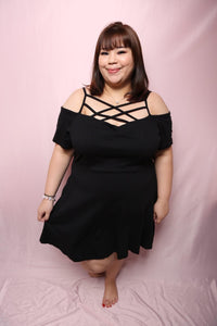 Cross Back Dress (Plus Size Dress)