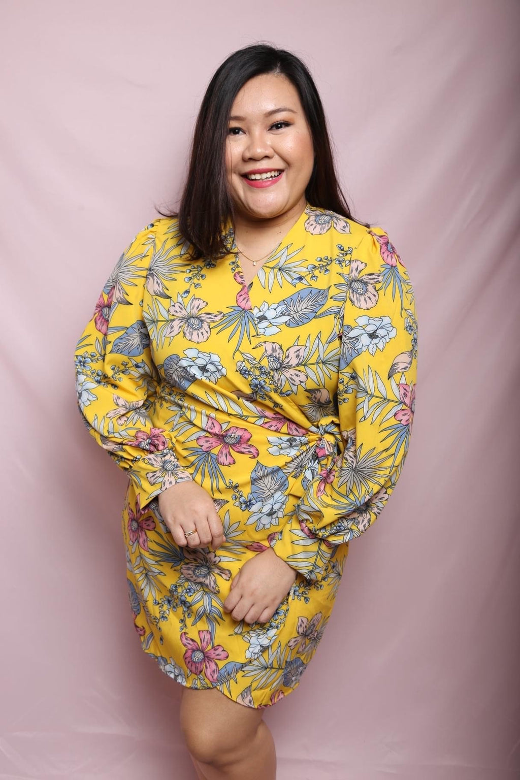 Botanical Wrap Dress (Plus Size Dress)