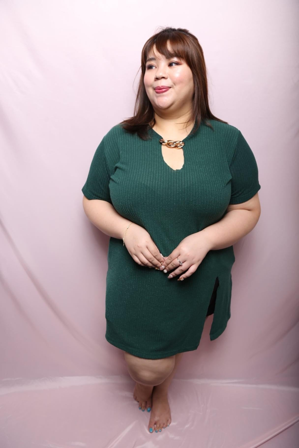 Chain Green on me dress (Plus Size Dress)