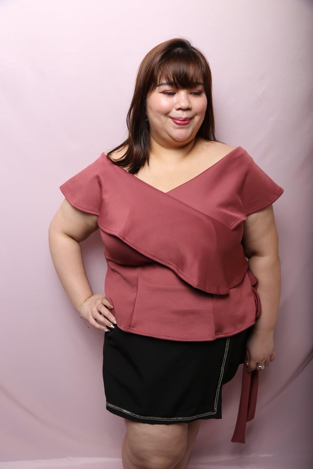 Love+ Hana Red Top (Plus Size Top)