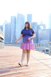 Love+ Pink Quartz Aurora Ombre Dress (Plus Size Dress)