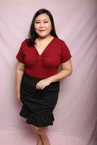 Bowy Cotton Top (Plus Size Top)