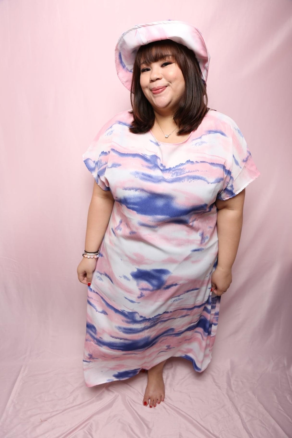 Rilo Marble Maxi Dress (Plus Size Dress)
