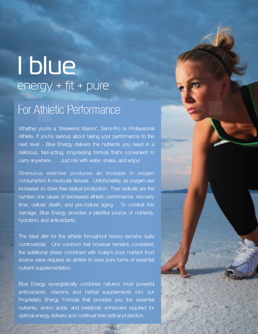 BHIP BLUE Energy Blend for Athletic Performance