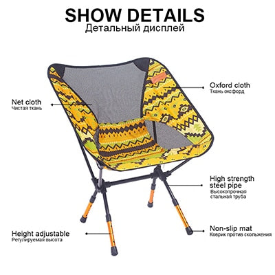 Awesome Chair Fishing Seat Camping Adjustable Or Fixed Height Folding Furniture Gmtry Best Dining Table And Chair Ideas Images Gmtryco