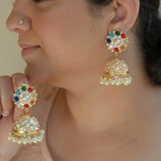 Kundan jhumkis (Ready to Ship)