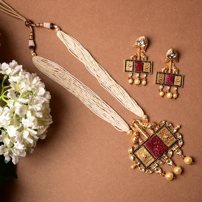 Kundan Pendant Set  (Ready To Ship)