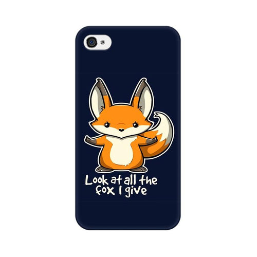 Fox Given Multicolour Phone Case For Apple iPhone 4s