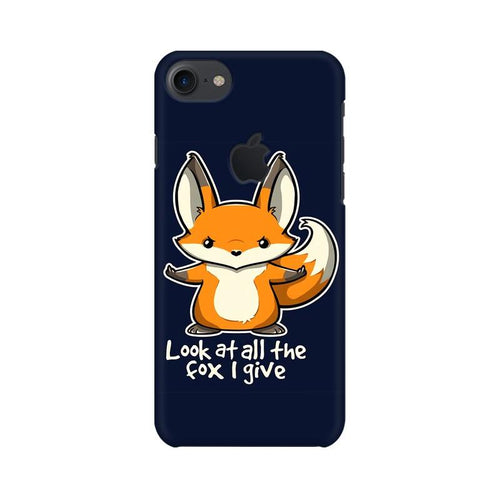 Fox Given Multicolour Phone Case For Apple iPhone 7 with Apple cut