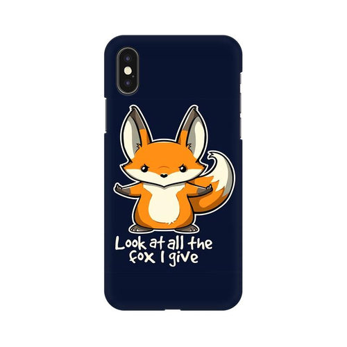 Fox Given Multicolour Phone Case For Apple iPhone XS