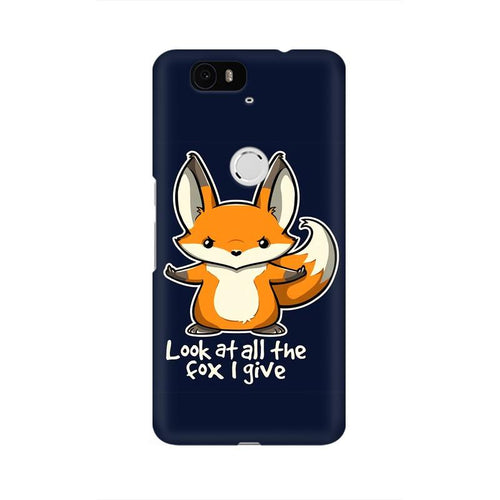 Fox Given Multicolour Phone Case For Huawei Nexus 6P