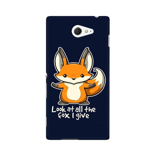 Fox Given Multicolour Case For Sony Xperia M2 S50h