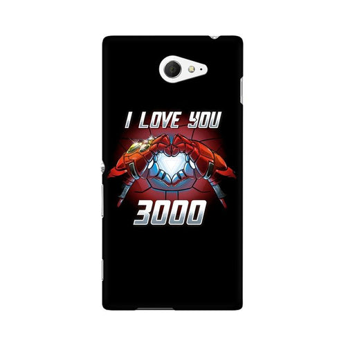 I Love You 3000 Multicolour Case For Sony Xperia M2 S50h