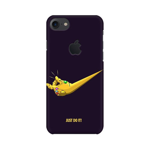 Just Do It  Multicolour Phone Case For Apple iPhone 7 with Apple cut