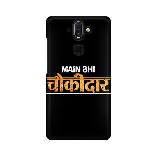 Main Bhi Chowkidar Multicolour Case For Nokia 8 Sirocco