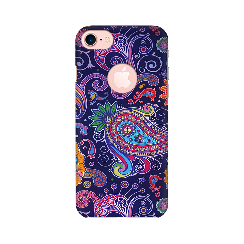 Paisleys Multicolour Case For Apple iPhone 7 with Round cut