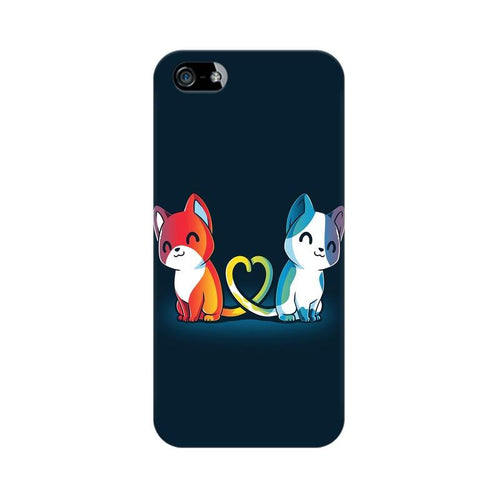 Purrfect Match Multicolour Phone Case For Apple iPhone 5