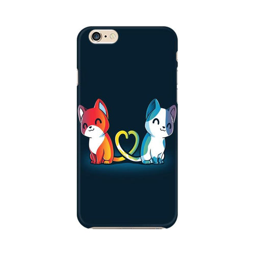 Purrfect Match Multicolour Phone Case For Apple iPhone 6 Plus