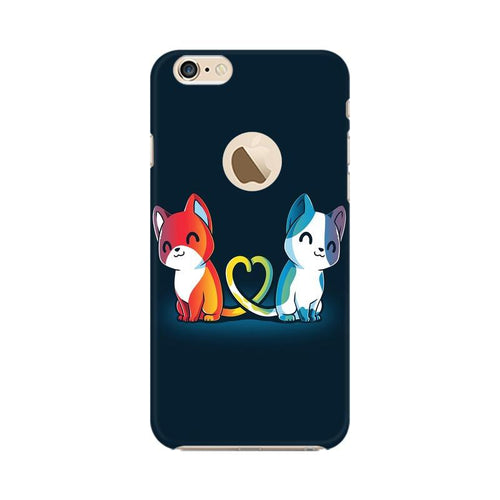 Purrfect Match Multicolour Phone Case For Apple iPhone 6s with Apple hole
