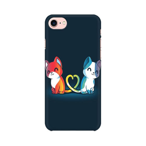 Purrfect Match Multicolour Phone Case For Apple iPhone 7