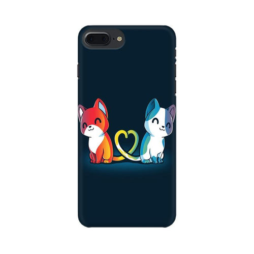 Purrfect Match Multicolour Phone Case For Apple iPhone 7 Plus