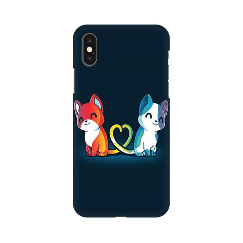 Purrfect Match Multicolour Phone Case For Apple iPhone XS