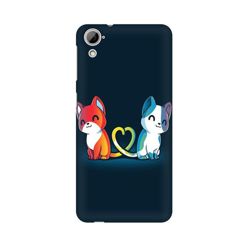 Purrfect Match Multicolour Phone Case For HTC Desire 820
