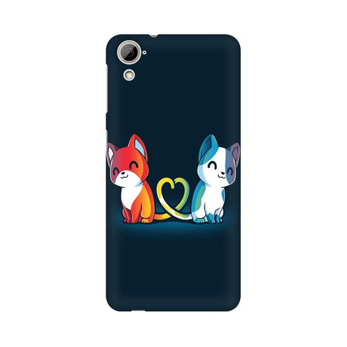 Purrfect Match Multicolour Phone Case For HTC Desire 826