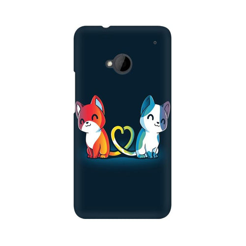 Purrfect Match Multicolour Phone Case For HTC One M7