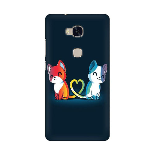 Purrfect Match Multicolour Phone Case For Huawei Honor 5X