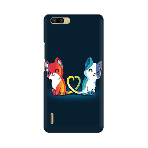 Purrfect Match Multicolour Phone Case For Huawei Honor 6 Plus