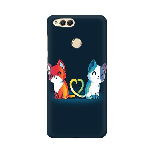 Purrfect Match Multicolour Phone Case For Huawei Honor 7X
