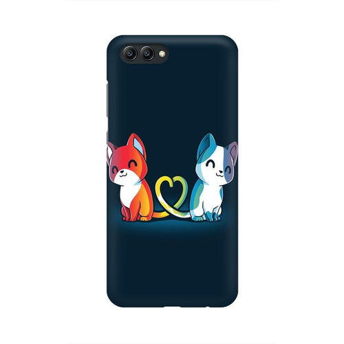 Purrfect Match Multicolour Phone Case For Huawei Honor View 10