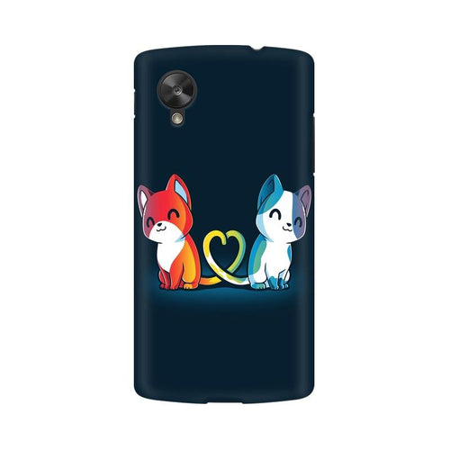 Purrfect Match Multicolour Phone Case For LG Nexus 5